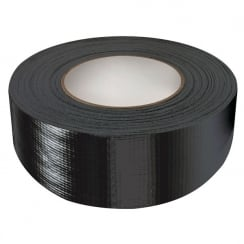 Black/Silver Single Sided Cloth Tape 50mm x 50m