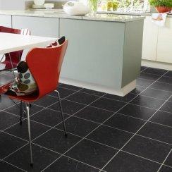 Karndean Knight Tile Midnight Black Marble T74