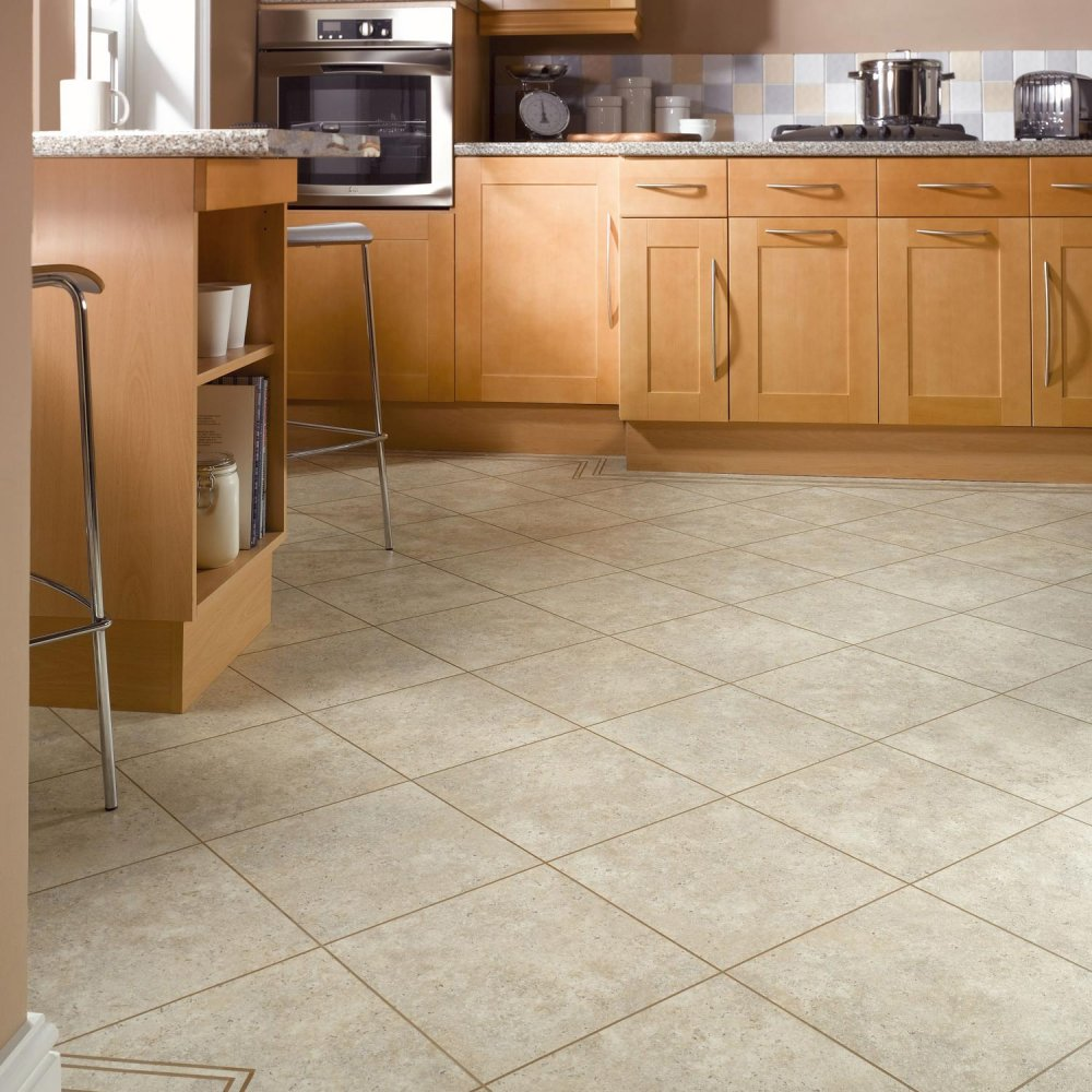 Soapstone Knight Tile Vinyl Flooring From Karndean: ST5
