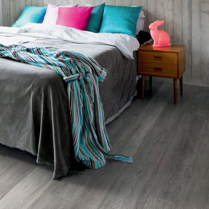 Polyflor Camaro Loc Click Fit Vinyl Tiles Smoke Limed Oak 3437
