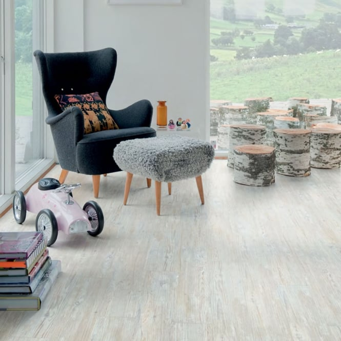Polyflor Camaro Loc Click Fit Vinyl Tiles White Limed Oak 3441