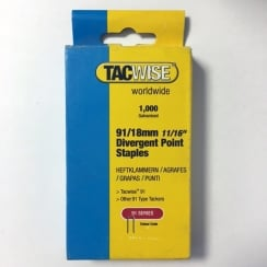 Tacwise Staples 91 for Duo 35 18mm (91/18)