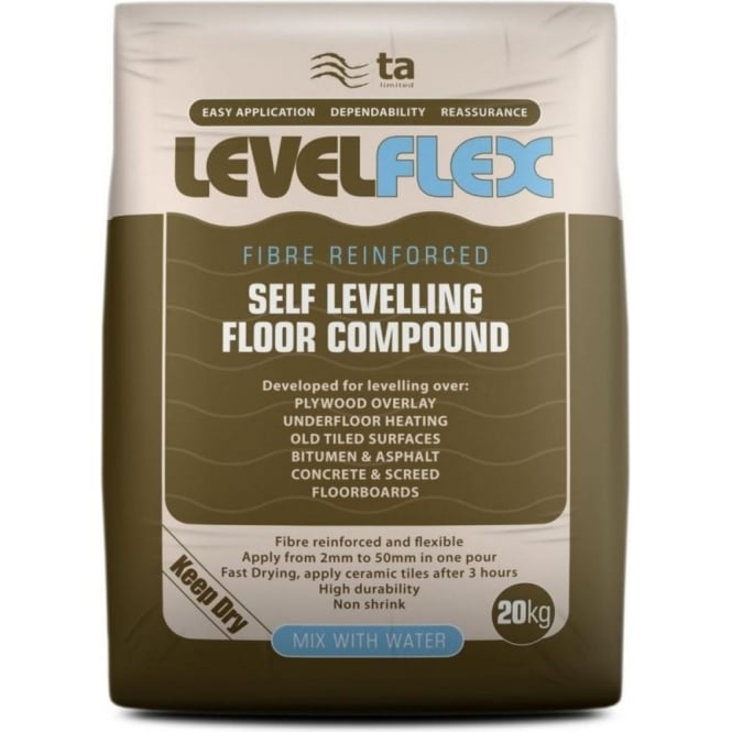 Tilemaster Levelflex Smoothing Compound 20kg Bag